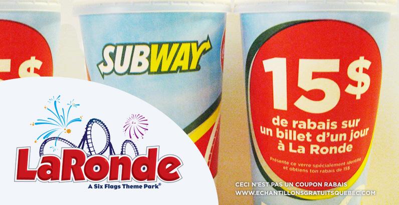 Coupon rabais pour La Ronde saison 2014