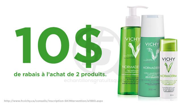 Coupon rabais de 10$ Laboratoire Vichy