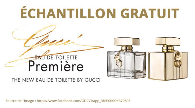Échantillons gratuit du parfum Gucci Première