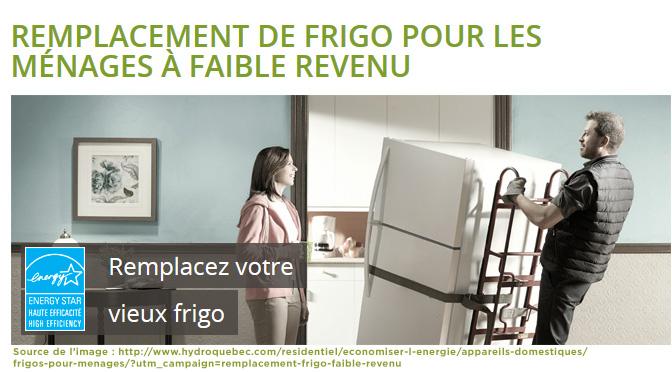Remplacement de votre frigo chez Hydro-Quebec