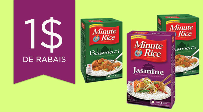 Coupon rabais minute Rice