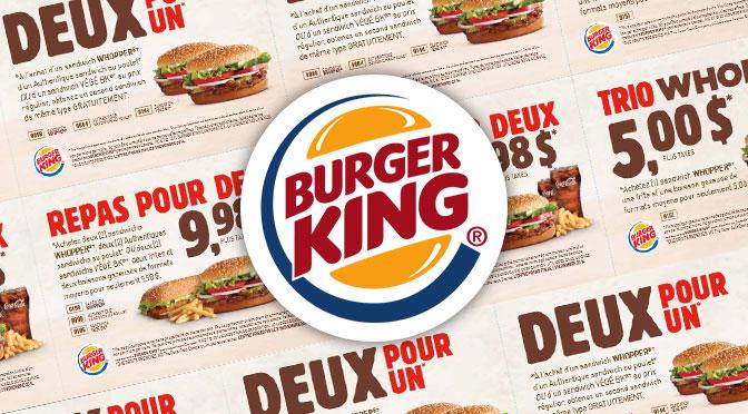 Coupons rabais Burger King