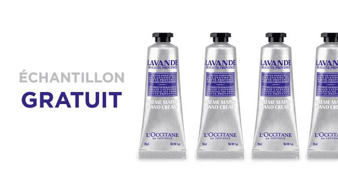 Échantillon gratuit L'occitane à la lavendre