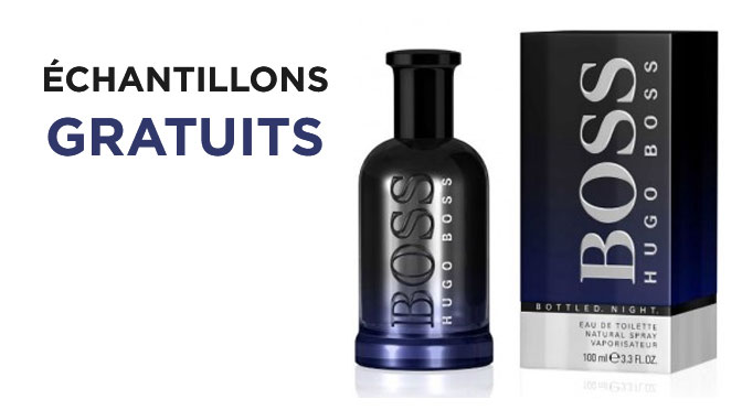 Échantillons gratuit parfum Hugo Boss Bottled