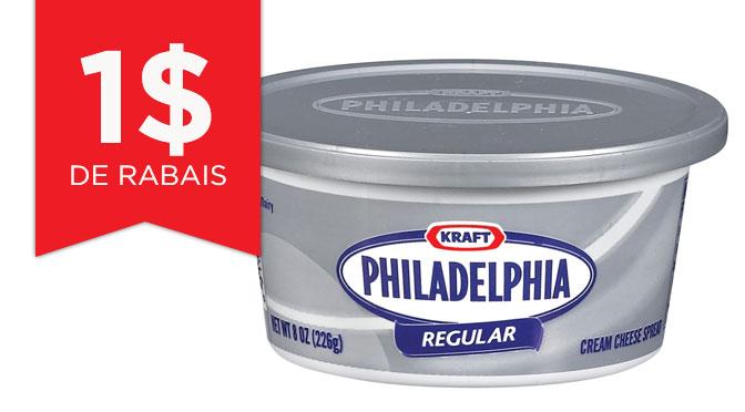 Coupon rabais philadelphia de 1$