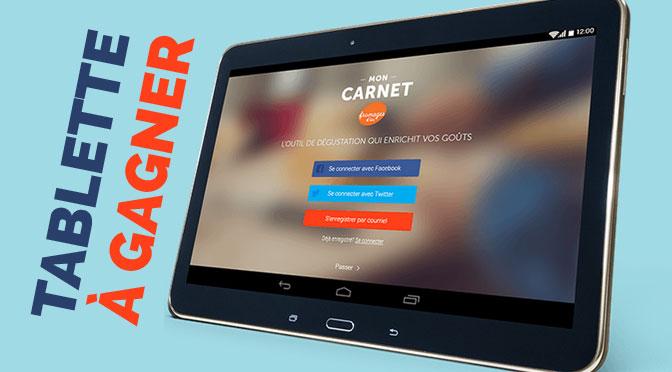 Tablette Samsung à gagner