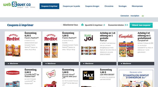 Websaver un des meilleurs sites de coupons rabais au Québec