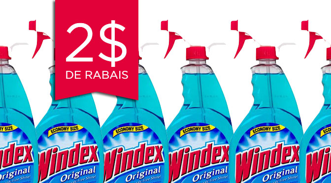 Coupon rabais Windex