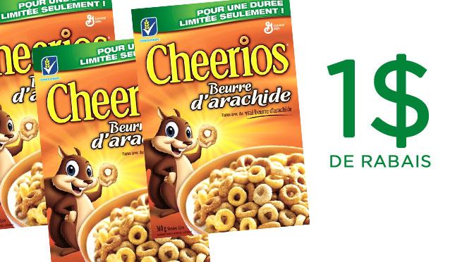 Coupon rabais Cheerios