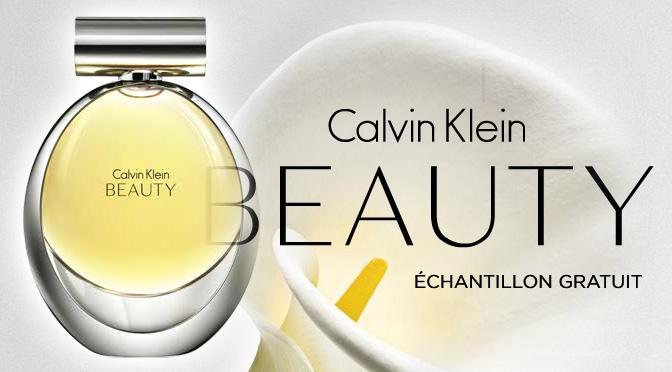 Échantillons gratuit de parfum Calvin Klein beauty