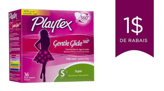 coupon rabais sur les tampons Playtex