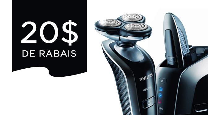 coupon rabais de 30$ pour les rasoir électriques Philips