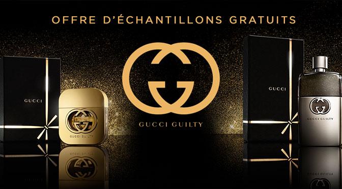 Échantillons gratuit de parfum Gucci Guilty