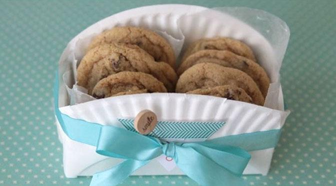 Emballage fait main pour les biscuits