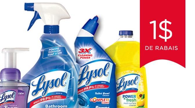 coupon rabais des produit ménagé Lysol