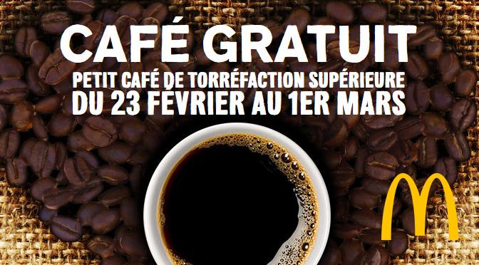 Café gratuit Mccafé de Mcdonal's gratuit