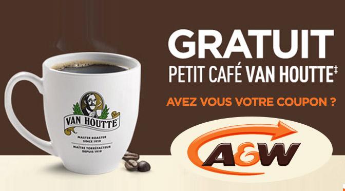 coupon pour café gratuit chez a&w 2015