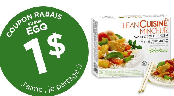 coupon rabais cuisine minceur de 1$ sur Facebook