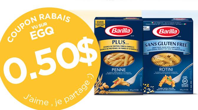 coupon rabais Barilla