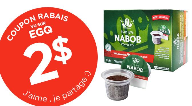 coupons rabais café Nabob Keurig