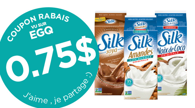 coupon rabais silk lait de soya