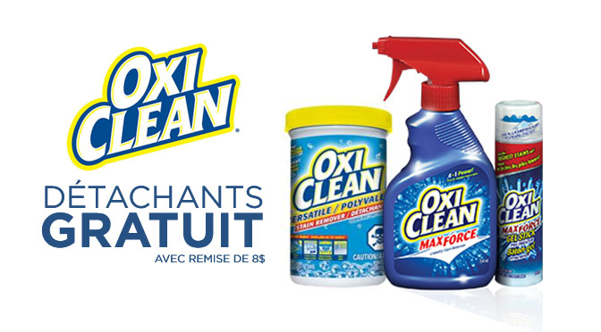 Detachant oxiclean gratuit maxforce 2015
