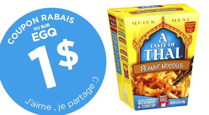 coupon rabais a taste of thai