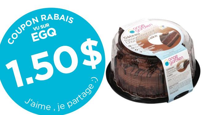 coupon-rabais Gateau passion chocolat Ange-gardien