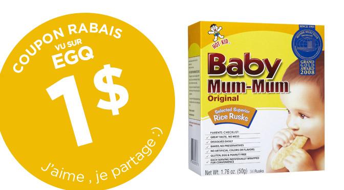 Coupon rabais Baby Mum Mum