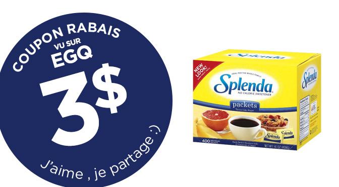 Coupons rabais Splenda de 3$