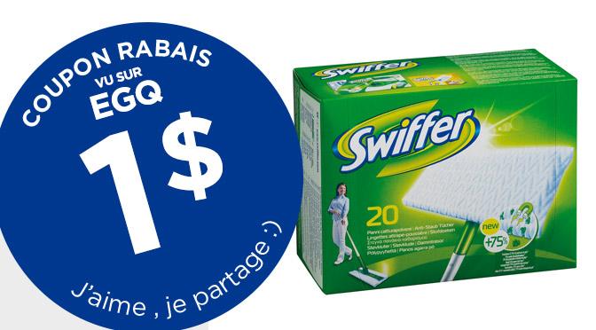 =Coupon rabais de 1$ sur les Swiffer