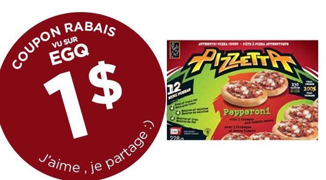 coupon rabais sur les pizzeta