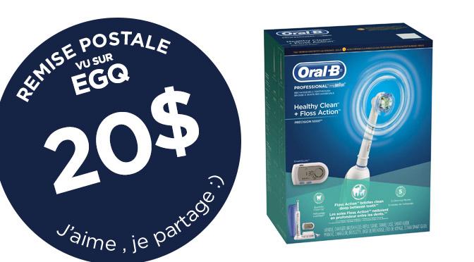 Remise postale de 20$ Oral-B