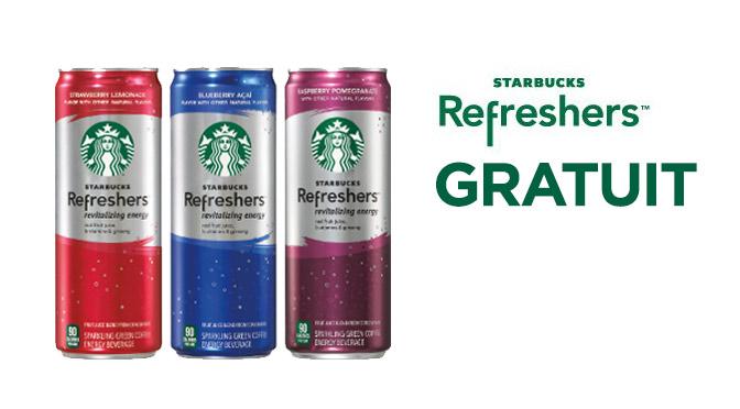 Starbuck refresher gratuit