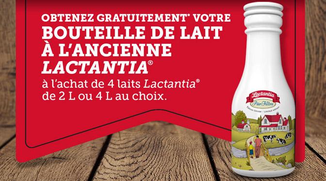 Bouteille de lait lactantia gratuite