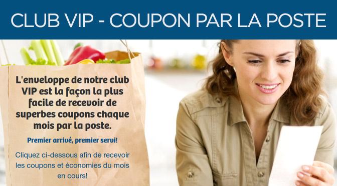 Programme VIP coupon rbais par la poste Web Saver