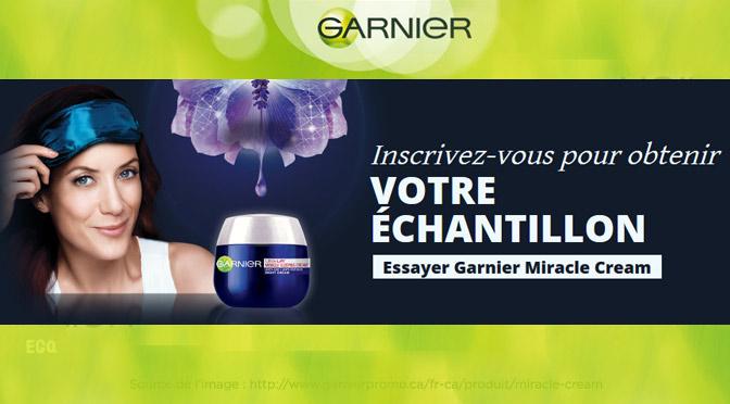 Échantillons gratuits Garnier Miracle Cream
