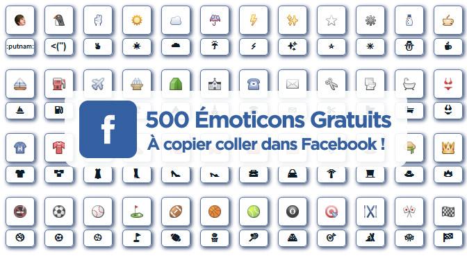 500 émoticones facebook gratuits !
