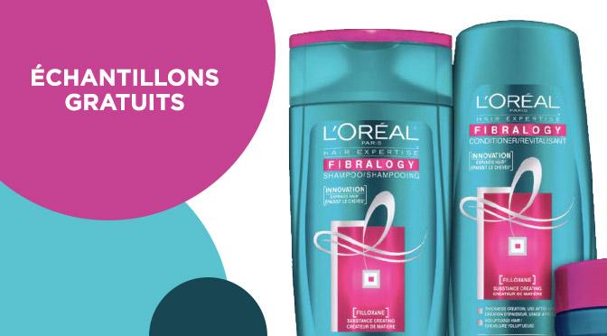 Échantillons gratuit L'Oréal Fibralogy