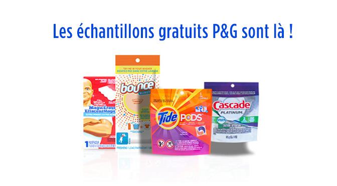 Échantillons gratuit P&G mai 2015