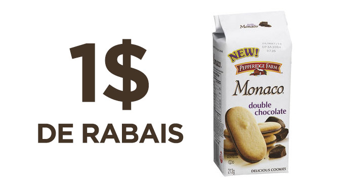 coupon rabais Biscuits Pepperidge farm
