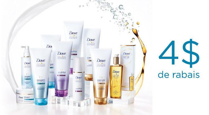 Coupon rabais Dove Advanced Hair Series