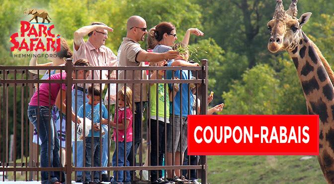 coupon-rabais Parc Safari