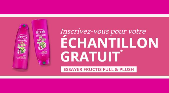echantillons gratuits garnier fructis