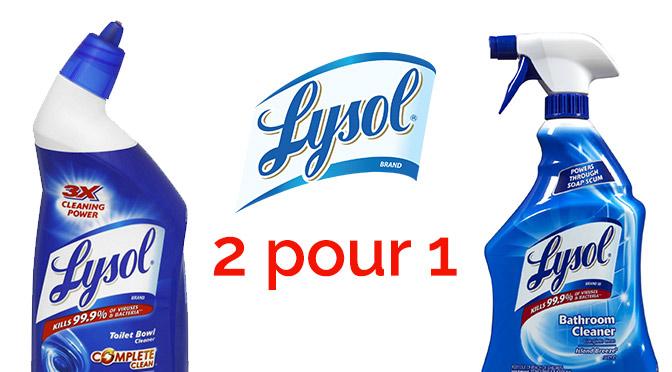 Coupon rabais Lysol 2 pour 1