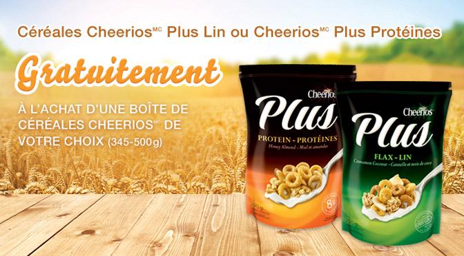 Cheerios Plus, céréales gratuites