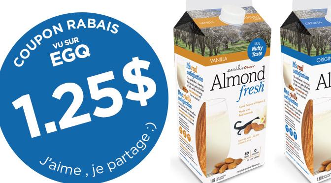 coupon rbais Lait d'amande Almond Fresh