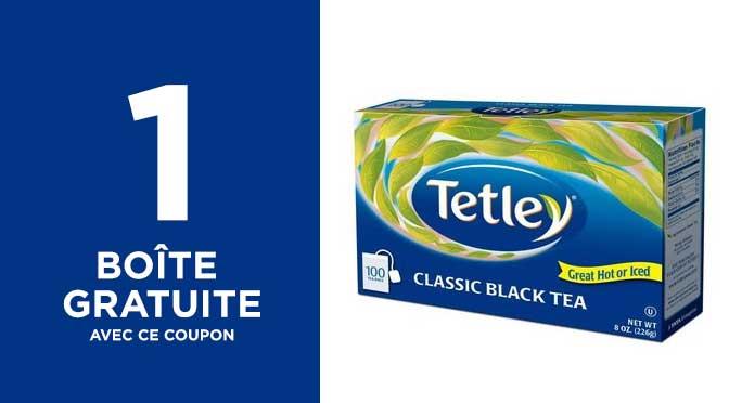 Thé Tetley gratuit