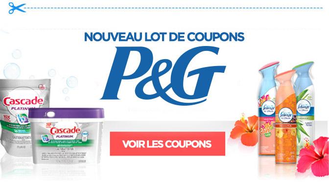 Nouveaux coupons rabais P&G