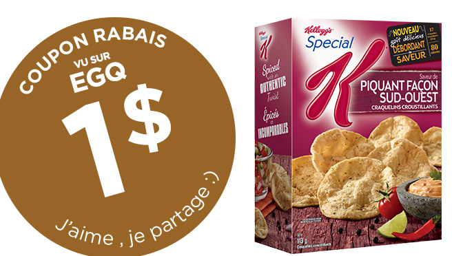 Coupon rbais craquelins Special K